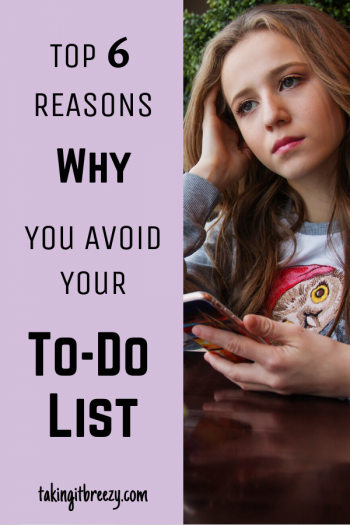 Woman avoiding her to-do list