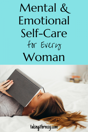 woman reading on bed for self-care