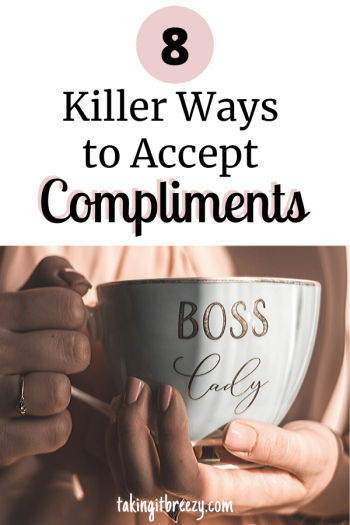 boss lady tea cup woman accepting compliments